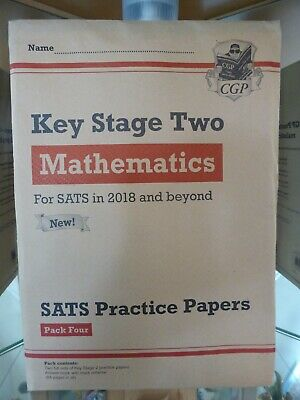 CGP Books Key Stage Two KS2 Maths Mathematics SATs Practice Test Papers Pack 4