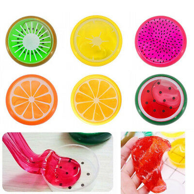 6PCS Creative Fruit Crystal Clay Jelly Slime Funny Mud Educational Toy