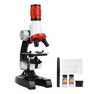 1200x Magnification Microscope Set Educational Biology ABS Children Microscope