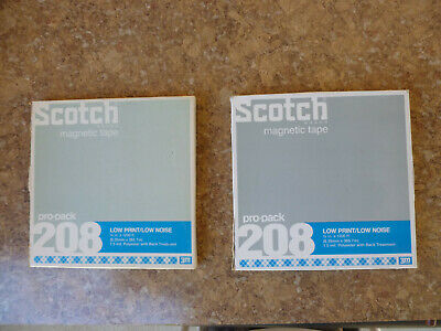 "Scotch 208 - Two 7"" Reels – Blank - Nos?"