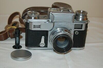 Kiev-3a Vintage 1957 Soviet Rangefinder Camera, Jupiter-8 Case. 5728269. UK Sale