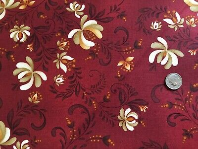Plain and Simple by Henry Glass #8807-99 Berry Branch Fabric Premium Cotton