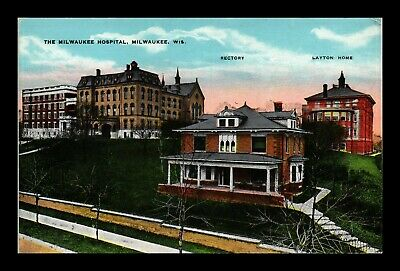 Dr Jim Stamps Us Hospital Rectory Layton Home Milwaukee Wisconsin Postcard