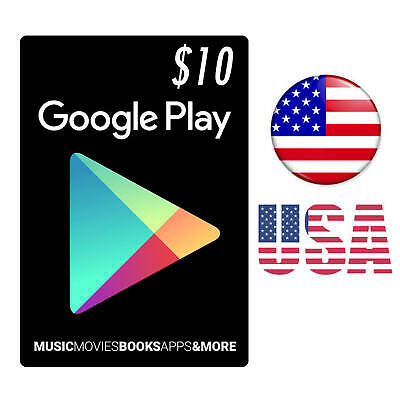 $10 Google PLAY Store USA Gift Card Email - 10 Dollar Google Play Fast Delivery