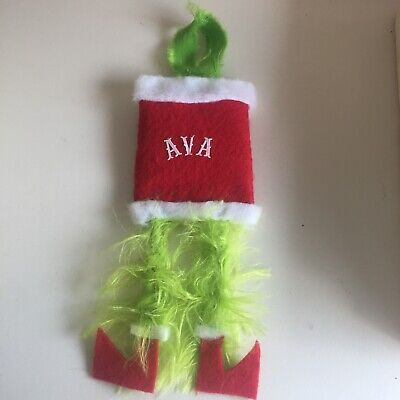 Grinch Bottom Personalized Christmas Ornament Homemade Gift Fun & Unique🎄
