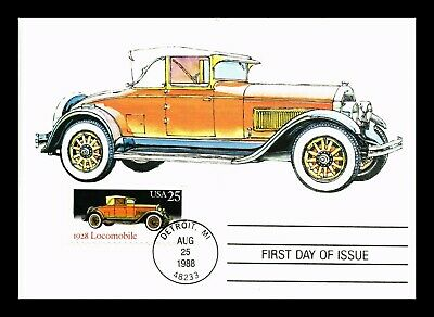 Dr Jim Stamps Us Locomobile Classic Automobile First Day Maximum Card