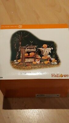 Department 56 Halloween Village Pumpkin Stand great condition  scary boxed