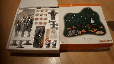 Department 56 Halloween Village Set 24 Pieces