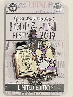 *In Hand* Disney Epcot Food And Wine Festival 2019 Figment Pin Limited Edition