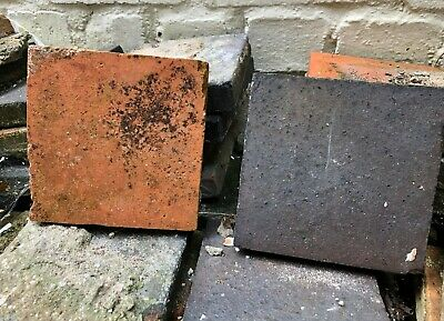 "Approximately 300 reclaimed Victorian quarry tiles, red & black 6"" x 6"""