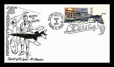 Dr Jim Stamps Us Air Mail Society Florex Event Tampa Florida Cover Lindbergh
