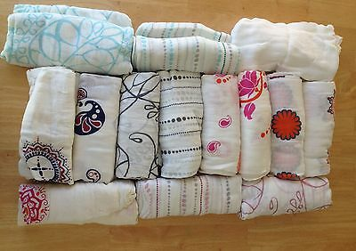 """Aden and Anais Bamboo Swaddle Blanket Boutique 47"""" x 47"""" Many Patterns NEW"""