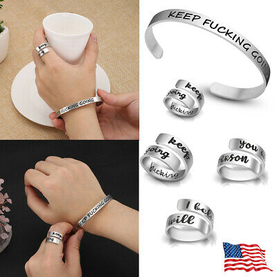 Women Men Stainless Steel Silver Ring Adjustable Stacking Open Knuckle Finger US