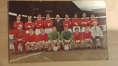 Manchester United Fc 1965 The Hornet International Cup Teams Football Photo Card