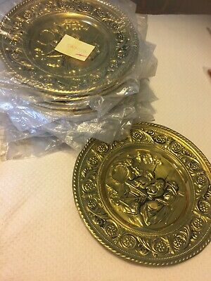 Peerage Brass Wall Plate Decor - Made in England