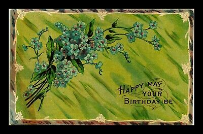 Dr Jim Stamps Us Happy May Your Birthday Be Embossed Topical Greetings Postcard