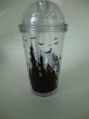 Disney Parks 2019 Mickey's Halloween Party Light Up Plastic Tumbler MNSSHP - NEW