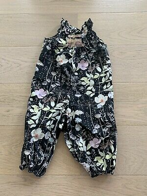 bonpoint jumpsuit black flowers 18 months