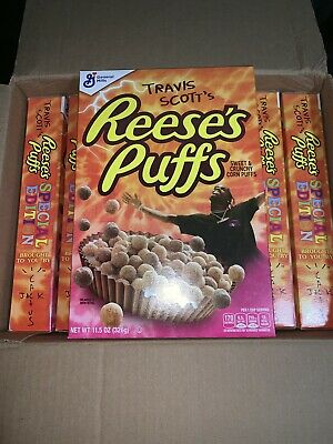 8 Boxes Of Travis Scott Reeses Puffs Cereal