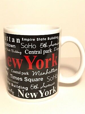 New York City Coffee Tea Mug 10 oz Ceramic City Locations Travel Destinations