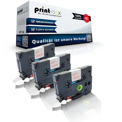 3x Extra kompatible Schriftbänder für Brother PTouch-D-600-VP TZE135 Be Quantum