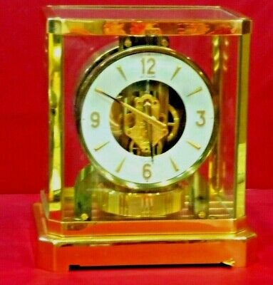 CLEANED SERVICED 1970s JAEGER LECOULTRE 528 ATMOS CLOCK # 311XXX WORKING