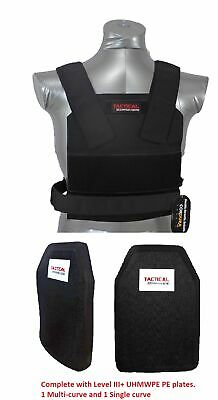 Tactical Scorpion Level III+ PE Body Armor Plates + Bobcat Concealable Carrier