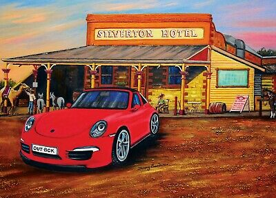 Blue Opal Deluxe Jenny Sanders A Porsche in the Outback 1000 piece Jigsaw Puzzle