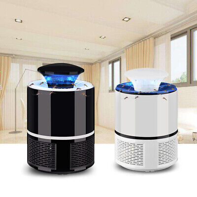 2X(2018 New Smart LED UV Electric Mosquito Killer Lamp USB Charge Noiseless H6V4