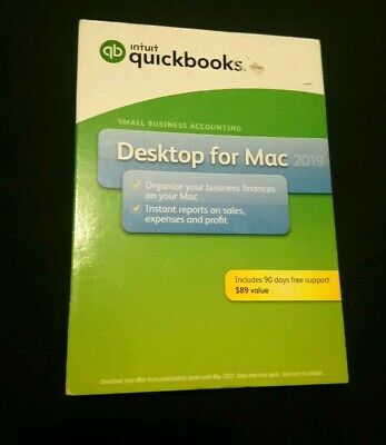 Intuit QuickBooks Desktop For Mac 2019 New Retail Box W/ 90 Days Free Support