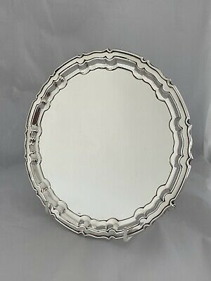 Solid Silver Medium Sized Tray Or Salver 1929 Sheffield WILLIAM HUTTON