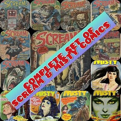 Complete Set Of Scream And Misty  - 80'S Classic Horror Comics On Dvd Data Disc