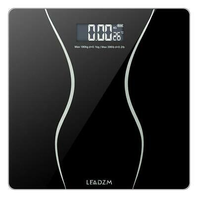 400lb Digital Body Weight Scale Bathroom Fitness Backlit LCD + 2x Battery US CA