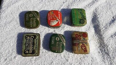 6 VINTAGE GRAMOPHONE  NEEDLES & TINs.COLUMBIA HMV SOLISTER EMBASSY