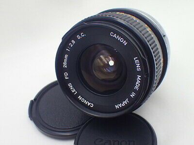 ▣ EXC+5 ▣ CANON FD 28mm f/2.8 SC S.C. MF Wide Angle Lens from japan #106