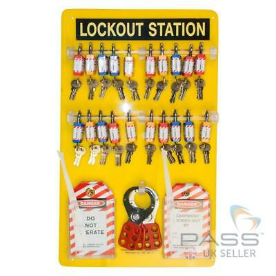 20 Lock Lockout Tagout Station - With Accessories