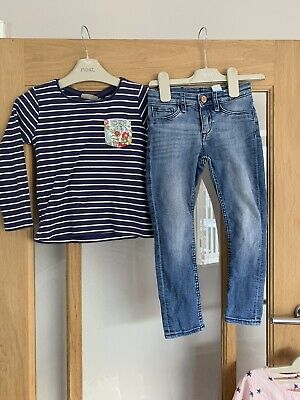 Next Girls Autumn / Winter Outfit Jeans & Top Age 4 Years