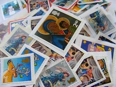 100 2nd class Xmas Mixed  stamps unfranked         (lot 139)