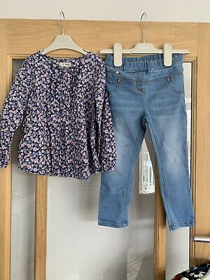 Next Girls Outfit Jeans & Blouse 2-3 Years Autumn/ Winter