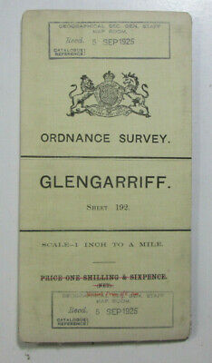 1899 Old OS Ordnance Survey Ireland One-Inch Second Edition Map 192 Glengarriff