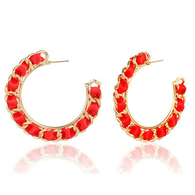 Design Rope Alloy Statement Jewelry Hemp Fashion Circle Women Earrings Hoop Gift
