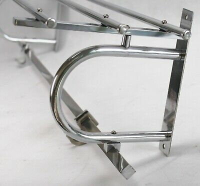 Art Deco Wall Coat Rack - Chrome Wardrobe - Coat Rack