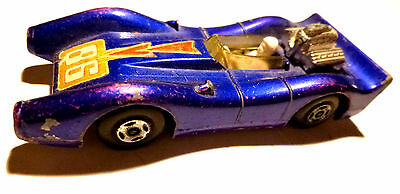 MATCHBOX SUPERFAST RENNWAGEN BLUE SHARK No. 61 1971 Made in England by LESNEY