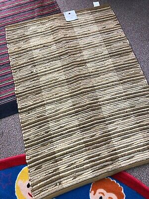 Jute Chindi Rug Hand Made 90X150 Cm 100% Cotton  Multi Colour