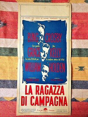 Locandina LA RAGAZZA DI CAMPAGNA 1'Ediz.1955 GRACE KELLY The Country Girl Poster