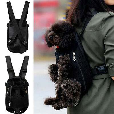 Pet Cat Puppy Dog Carrier Front Pack Hiking Backpack Head Legs Out Black