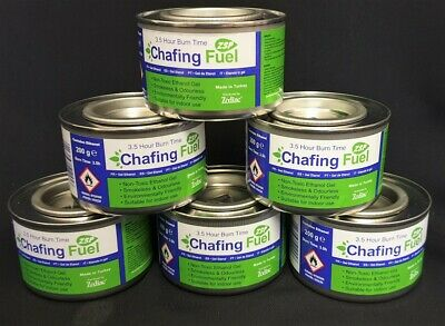 6 x Ethanol Chafing Fuel Catering 3.5 Hour Burning Time BBQ Buffet Camping,Party