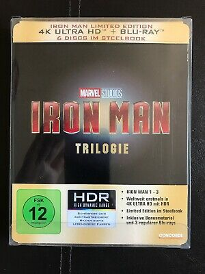 Iron Man 4k UHD Trilogy steelbook