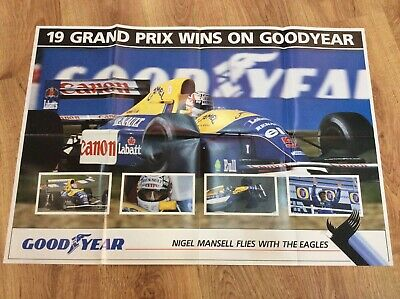 NIGEL MANSELL Williams FORMULA 1 One 1992 GOODYEAR EAGLES F1 Grand Prix POSTER