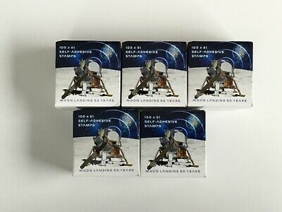 5 Sealed Unopened Boxes Australia Post $1 Postage Stamps